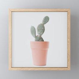 Cactus love Framed Mini Art Print