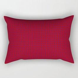 Rose Tartan Rectangular Pillow