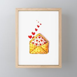 Lovely love Framed Mini Art Print