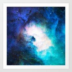 Space Rain Art Print