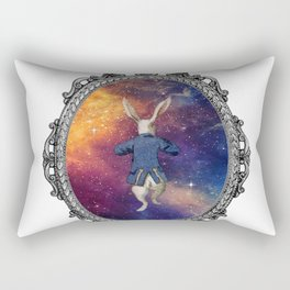 Follow The White Rabbit II - Alice In Wonderland Rectangular Pillow