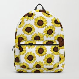 Sunflowers are the New Roses! - White Backpack