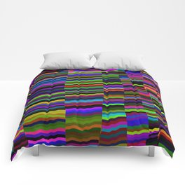 colourfull stripes Comforters