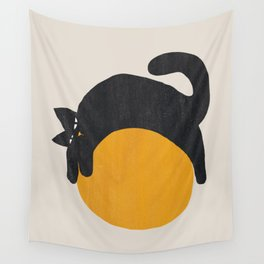Cat with ball Wall Tapestry