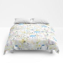 watercolor Santoroni pattern Comforters