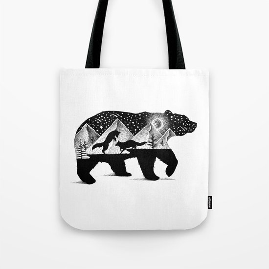 THE BEAR AND THE FOXES Tote Bag