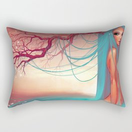 The muse of the lake Rectangular Pillow