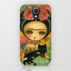 Frida And Her Cat Galaxy S4 Slim Case