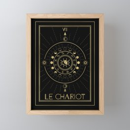 Le Chariot or The Chariot Tarot Framed Mini Art Print