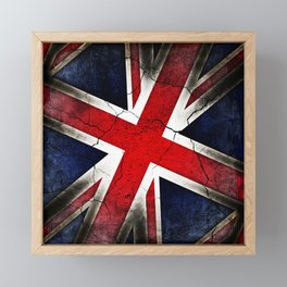 Punk Grunge Union Jack British Flag Framed Mini Art Print
