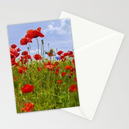 Field of Poppies | panoramic view Stationery Cards