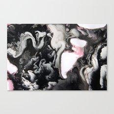 Black White Pink Canvas Print
