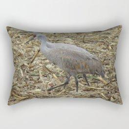 Cranes in the fields Rectangular Pillow