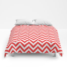 Coral Chevron Comforters