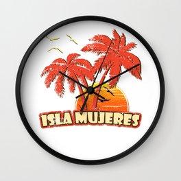Isla Mujeres Vintage Sunset Wall Clock