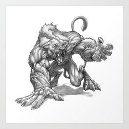 The Ridgeback Cougarwolf Art Print