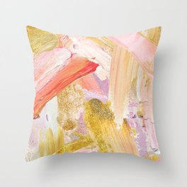 Shiloh - Abstract Contemporary Brushstrokes Throw Pillow