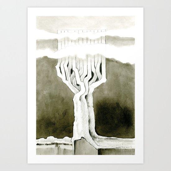 Cubed tree Art Print