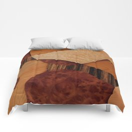 Delicacy abstarct from different wood Comforters