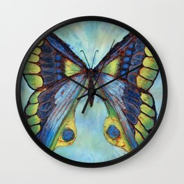 Patina Butterfly Wall Clock