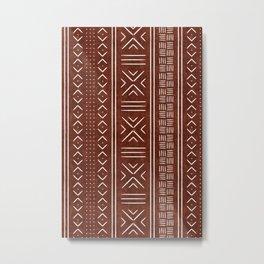 rust mud cloth Metal Print