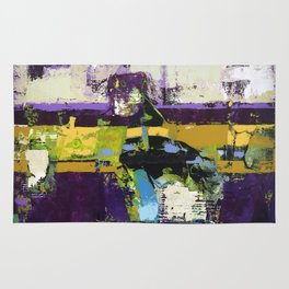 Controversy Prince Deep Purple Abstract Painting Modern Art Rug