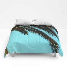 High-Contrast Palm Fronds Comforters