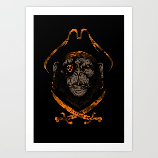 Captain sea monkey Art Print