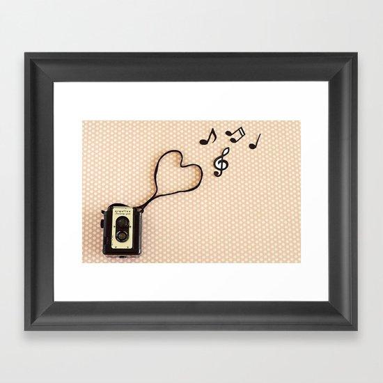 Photography makes my heart sing Framed Art Print