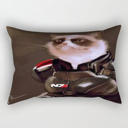 Commander Grumpy Rectangular Pillow