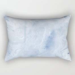 Yasuko - spilled ink japanese monoprint marble paper cell phone case with marble pattern blue pastel Rectangular Pillow
