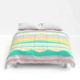 Color Blocks (Cute Nursery Pattern) (13-Nov-17) #ColorBlocks #Zala02Creations #Society6 Comforters