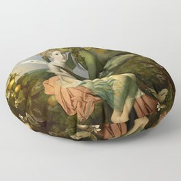 """""""The body, the soul and the garden of love"""" Floor Pillow"""