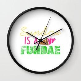 Sundae is a Fundae Wall Clock