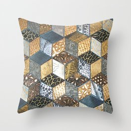 Tumbling Blocks #2 Throw Pillow