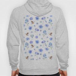 Elegant lavender brown watercolor honey bee floral Hoody