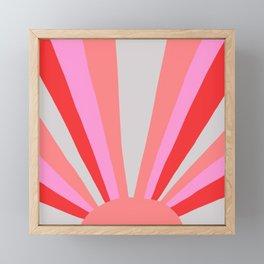 sunshine state, coral Framed Mini Art Print