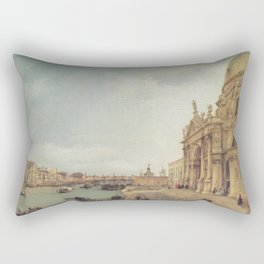 Entrance to the Grand Canal - Canaletto (Distressed Plaster Look) Rectangular Pillow