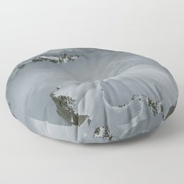 From Aiguille du Midi in the French Alps /Mont Blanc Floor Pillow