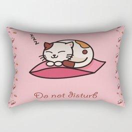 Do not disturb - cute cat sleeping Rectangular Pillow