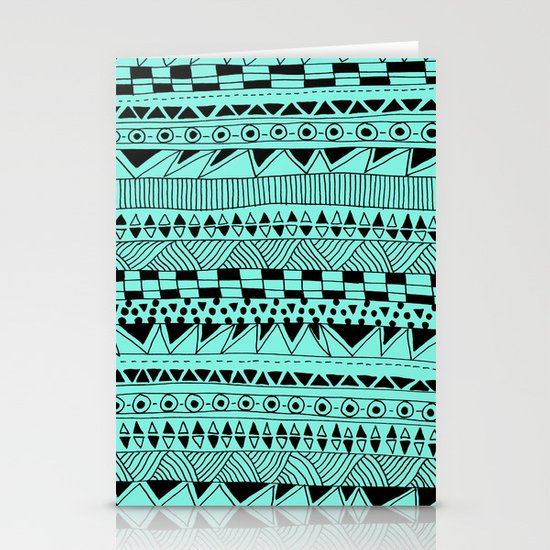 Fun - Black and Mint Stationery Cards