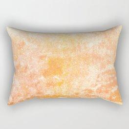 Marbling structur in warm orange tones Rectangular Pillow
