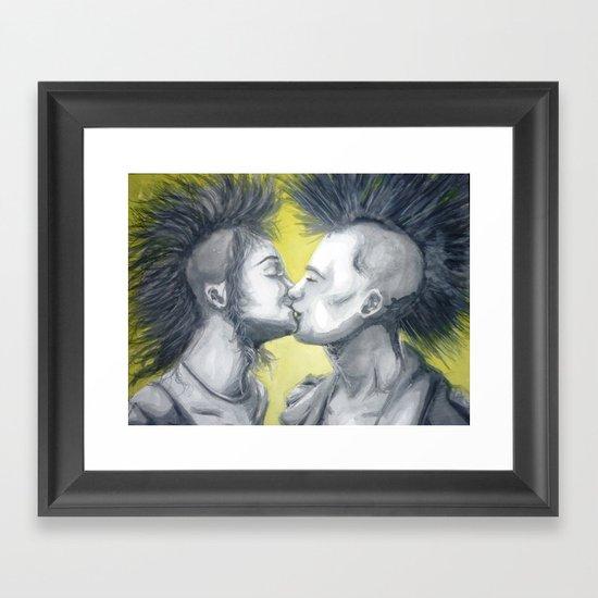 Kiss me deadly Framed Art Print