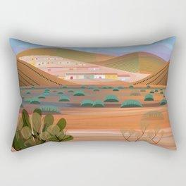 Copper Town (Square) Rectangular Pillow