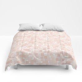 Pale Dogwood Pixels Comforters
