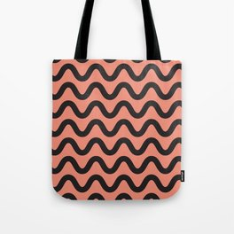 Coral Ripple Tote Bag