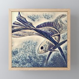 My Little Fish Framed Mini Art Print