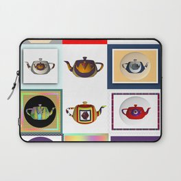 Teapots in Abstract Laptop Sleeve