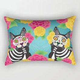 Gatos Dia de los Muertos Rectangular Pillow