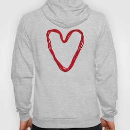 Heart from red rope Hoody